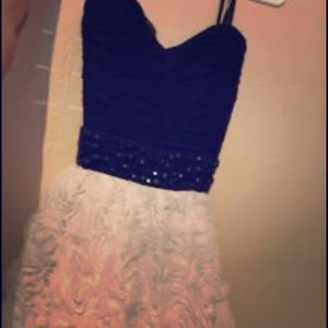 Size 7 black and white dress